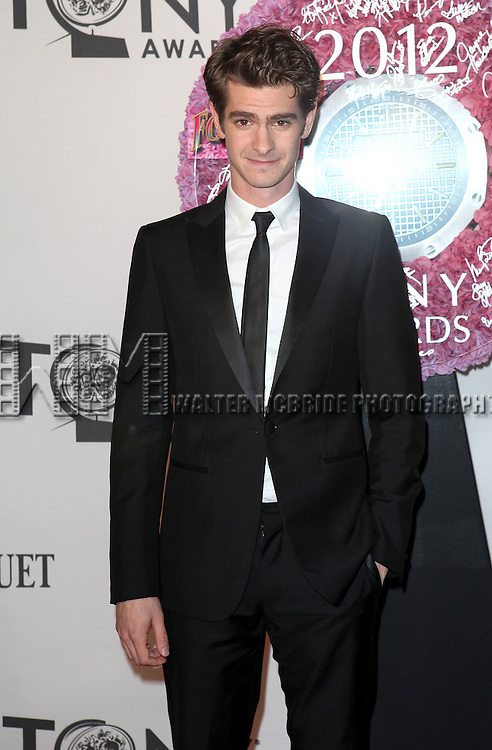 Andrew Garfield pictured at the 66th Annual Tony Awards held at The Beacon Theatre in New York City , New York on June 10, 2012. © Walter McBride / WM Photography