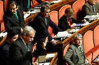 MARIO MURA, LEGA NORD.Roma 22/12/2011 Senato. Voto di Fiducia sulla Manovra Economica.Votation at Senate about austerity plan. .Photo Samantha Zucchi Insidefoto
