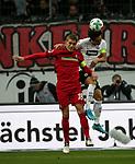 13.01.2018, Commerzbank - Arena, Frankfurt, GER, 1.FBL, Eintracht Frankfurt vs SC Freiburg<br /> , im Bild<br />Nils Petersen (Freiburg), Makoto Hasebe (Frankfurt)<br /> Foto &copy; nordphoto /  Bratic