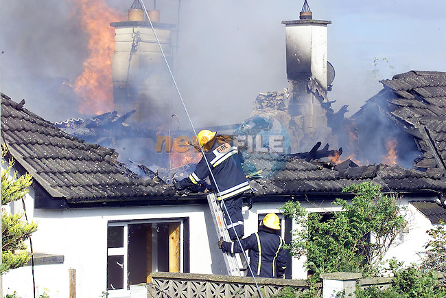 Hill of Rath House Fire  on tuesday evening at tea time..Picture Fran Caffrey Newsfile.
