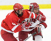 Tyler Roeszler (Cornell - 9), Ryan Grimshaw (Harvard - 6) - The visiting Cornell University Big Red defeated the Harvard University Crimson 2-1 on Saturday, January 29, 2011, at Bright Hockey Center in Cambridge, Massachusetts.