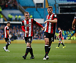 John Fleck of Sheffield Utd  and Jack O'Connell of Sheffield Utd during the Championship match at the Hillsborough Stadium, Sheffield. Picture date 24th September 2017. Picture credit should read: Simon Bellis/Sportimage