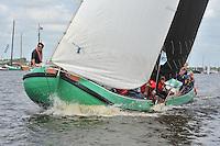 ZEILEN: HEEG: 06-08-2013, IFKS Skûtsjesilen, A klasse groot, Winnaar skûtsjeschipper Tony Brundel 'SKÛTSJE LYTSE' LIES, ©foto Martin de Jong