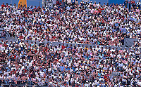 Crowd, fans, Daytona 500, Daytona International Speedway, Daytona Beach, Florida, February 15, 1987. (Photo by Brian Cleary/www.bcpix.com)