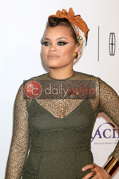 Andra Day<br /> at the 41st Annual Gracie Awards Gala, Beverly Wilshire Hotel, Beverly Hills, CA 05-24-16<br /> David Edwards/DailyCeleb.com 818-249-4998