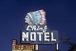 Chief Motel sign in San Pedro, CA