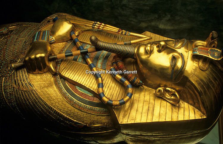 Egypt's Valley of the Kings, Golden coffin of Tutahkhamun, which held his mummy
