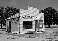 Old Abandoned Barber Shop in Tyrone, OK