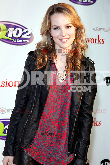 PHILADELPHIA, PA - DECEMBER 5 :  Bridgit Mendler pictured on the red carpet at Q 102's Jingle Ball 2012 presented by Xfinity at the Wells Fargo Center in Philadelphia, Pa on December 5, 2012  © Star Shooter / MediaPunch Inc /NortePhoto©