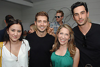 Zelda Williams, Julian Morris, Jessica Yellin, Landon Ross==<br /> LAXART 5th Annual Garden Party Presented by Tory Burch==<br /> Private Residence, Beverly Hills, CA==<br /> August 3, 2014==<br /> ©LAXART==<br /> Photo: DAVID CROTTY/Laxart.com==