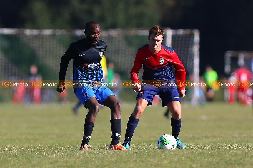 Shakespeare (red/blue) vs FC Bartlett, Hackney & Leyton Sunday League Football at Hackney Marshes on 9th October 2016