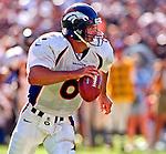 Oakland Raiders vs. Denver Broncos at Oakland Alameda County Coliseum Sunday, September 20, 1998.  Broncos beat Raiders  34-17.  Denver Broncos quarterback Bubby Brister (6).