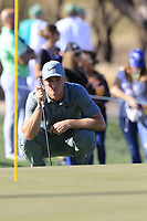 Alex Noren (SWE) on the 9th green during Saturday's Round 3 of the Waste Management Phoenix Open 2018 held on the TPC Scottsdale Stadium Course, Scottsdale, Arizona, USA. 3rd February 2018.<br /> Picture: Eoin Clarke | Golffile<br /> <br /> <br /> All photos usage must carry mandatory copyright credit (&copy; Golffile | Eoin Clarke)