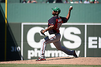 Atlanta Braves pitcher Juan Jaime (56) during a Spring Training game against the Boston Red Sox on March 17, 2015 at JetBlue Park at Fenway South in Fort Myers, Florida.  Atlanta defeated Boston 11-3.  (Mike Janes/Four Seam Images)