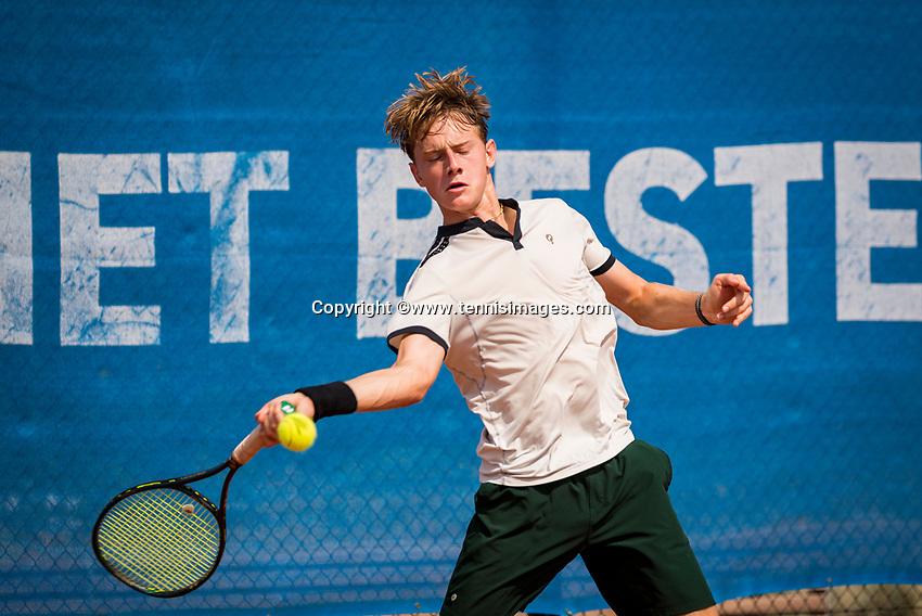 Amstelveen, Netherlands, 13 August 2020, NTC, National Tennis Center, KNLTB Wilcard Tournament, Guy Den Ouden (NED)<br /> Photo: Henk Koster/tennisimages.com