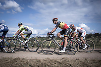 Belgian Champion Tim Merlier (BEL/Corendon Circus) on a gravel sector. <br /> <br /> Antwerp Port Epic 2019 <br /> One Day Race: Antwerp > Antwerp 187km<br /> <br /> ©kramon