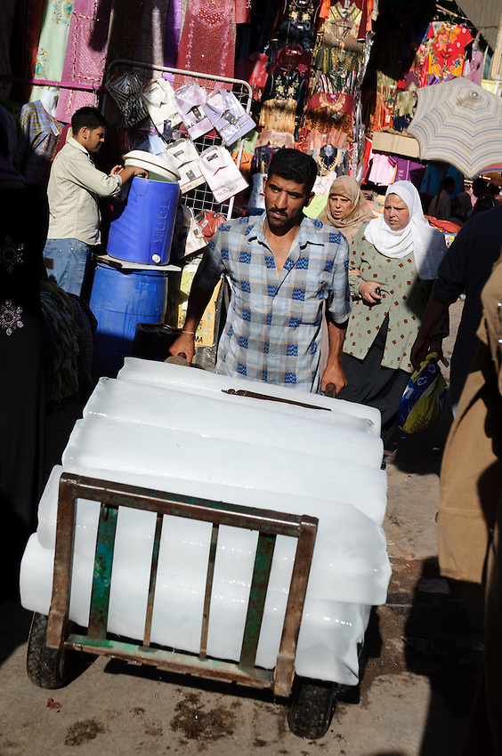 An Ice vendor on the streets of Islamic Cairo