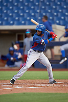 AZL Rangers Keyber Rodriguez (22) at bat during an Arizona League game against the AZL Brewers Blue on July 11, 2019 at American Family Fields of Phoenix in Phoenix, Arizona. The AZL Rangers defeated the AZL Brewers Blue 5-2. (Zachary Lucy/Four Seam Images)