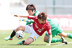 (L to R) <br /> Miho Fukumoto (Belle), <br /> Chinatsu Kira (reds), <br /> MAY 4, 2014 - Football /Soccer : <br /> Plenus Nadeshiko League 2014 <br /> between Urawa Reds Ladies 1-3 Okayama Yunogo Belle <br /> at Saitama Urawa Komaba Stadium, Saitama, Japan. <br /> (Photo by AFLO SPORT) [1205]