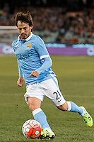 Melbourne, 21 July 2015 - David Silva of Manchester City controls the ball in game two of the International Champions Cup match at the Melbourne Cricket Ground, Australia. City def Roma 5-4 in Penalties. (Photo Sydney Low / AsteriskImages.com)