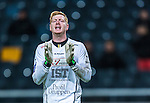 Solna 2013-09-30 Fotboll Allsvenskan AIK - &Ouml;sters IF :  <br /> &Ouml;ster m&aring;lvakt 1 Joakim Wulff reagerar<br /> (Foto: Kenta J&ouml;nsson) Nyckelord:  portr&auml;tt portrait