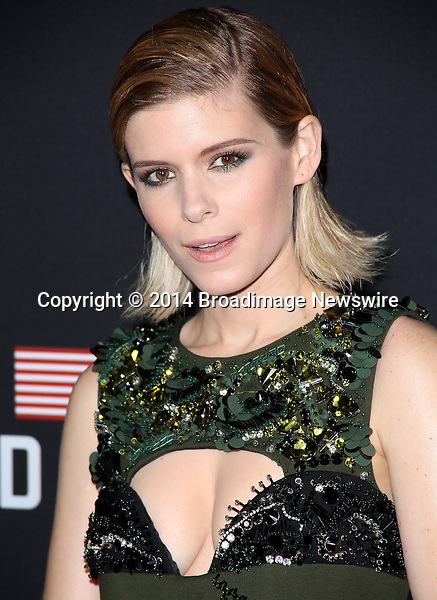 Pictured: Kate Mara<br /> Mandatory Credit &copy; Frederick Taylor/Broadimage<br /> &quot;House Of Cards&quot; - Season 2 Special Screening<br /> <br /> 2/13/14, Los Angeles, California, United States of America<br /> <br /> Broadimage Newswire<br /> Los Angeles 1+  (310) 301-1027<br /> New York      1+  (646) 827-9134<br /> sales@broadimage.com<br /> http://www.broadimage.com