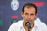 Juventus' head coach Massimiliano Allegri speaks at the press conference after the South China vs Juventus match of the AET International Challenge Cup on 30 July 2016 at Hong Kong Stadium, in Hong Kong, China.  Photo by Marcio Machado / Power Sport Images