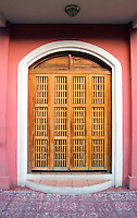 Wooden Door on a Colonial Building