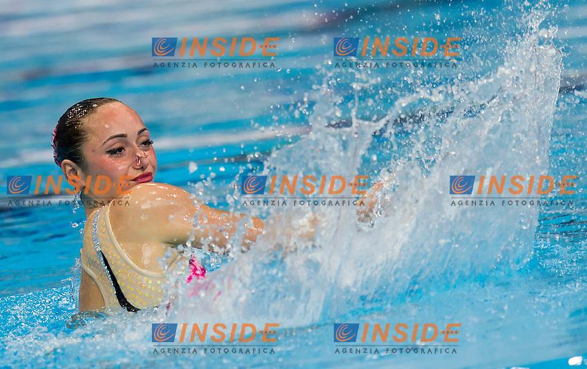 VOLOSHYNA Anna UKR UKRAINE silver medal<br /> London, Queen Elizabeth II Olympic Park Pool <br /> LEN 2016 European Aquatics Elite Championships <br /> Synchro<br /> Solo Technical final <br /> Day 04 12-05-2016<br /> Photo Giorgio Perottino/Deepbluemedia/Insidefoto