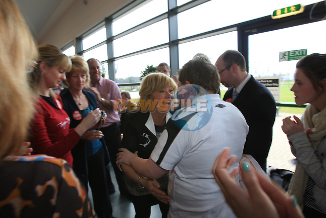 Mary Moran (LAB) being eliminated.at the louth election count in the DKIT, Dundalk Co Louth..Picture: Fran Caffrey / www.newsfile.ie.