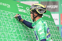 Picture by Alex Whitehead/SWpix.com - 06/09/2017 - Cycling - OVO Energy Tour of Britain - Stage 4, Mansfield to Newark-on-Trent - Orica Scott's Caleb Ewan signs on.