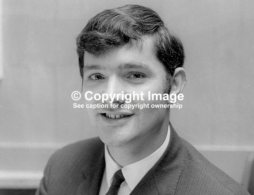 Patrick J McHugh, NILP, candidate, North Antrim, UK General Election, June 1970, 1970050208<br />