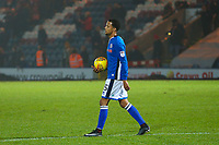 Rochdale's Joe Thompson  walks of the pitch after the final whistle in the Sky Bet League 1 match between Rochdale and Walsall at Spotland Stadium, Rochdale, England on 23 December 2017. Photo by Juel Miah / PRiME Media Images.