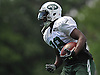 Bilal Powell #29, New York Jets running back, heads upfield during training camp at Atlantic Health Jets Training Center in Florham Park, NJ on Wednesday, Aug. 17, 2016.