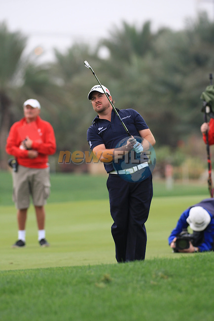 Graeme McDowell playing his second shot on the 9th tee on day two of the Abu Dhabi HSBC Golf Championship 2011, at the Abu Dhabi golf club, UAE. 21/1/11..Picture Fran Caffrey/www.golffile.ie.
