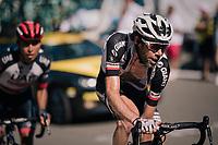 Laurens ten Dam (NED/Sunweb) up the final climb of the day (in Spain!): the Col du Portillon (Cat1/1292m)<br /> <br /> Stage 16: Carcassonne &gt; Bagn&egrave;res-de-Luchon (218km)<br /> <br /> 105th Tour de France 2018<br /> &copy;kramon