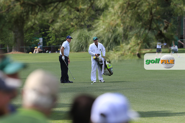Phil Mickelson (USA) on the 7th fairway during the 1st round at the The Masters , Augusta National, Augusta, Georgia, USA. 11/04/2019.<br /> Picture Fran Caffrey / Golffile.ie<br /> <br /> All photo usage must carry mandatory copyright credit (© Golffile | Fran Caffrey)
