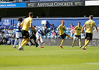 18th July 2020; The Kiyan Prince Foundation Stadium, London, England; English Championship Football, Queen Park Rangers versus Millwall; Ryan Manning of Queens Park Rangers shoots and scores his sides 2nd goal in the 52nd minute to make it 2-1