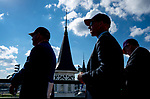 November 3, 2018 : Fans watch the races from besides the twinspires on Breeders Cup World Championships Saturday at Churchill Downs on November 3, 2018 in Louisville, Kentucky. Scott Serio/Eclipse Sportswire/CSM
