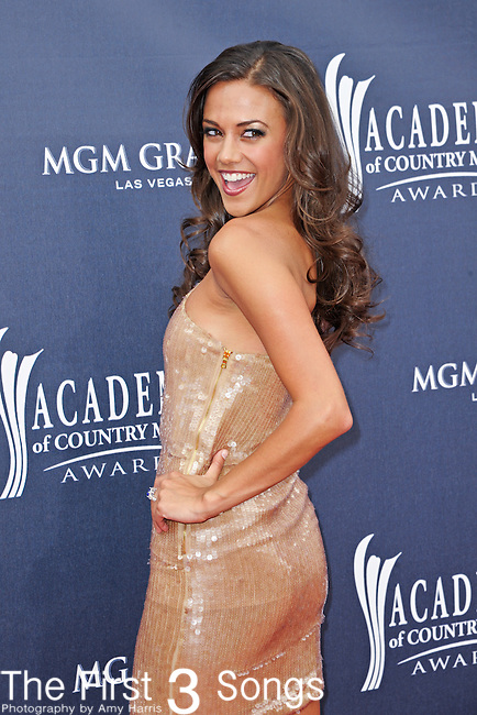 Jana Kramer attends the 46th Annual Academy of Country Music Awards in Las Vegas, Nevada on April 3, 2011.