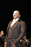 Curtain Call on Opening Night with Norm Lewis (All My Children) will star in Phantom of the Opera as the first black Phantom starting on May 12 on Broadway at the Majestic Theatre, New York City, New York  (Photo by Sue Coflin/Max Photos)
