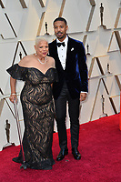 LOS ANGELES, CA. February 24, 2019: Michael B. Jordan &amp; Donna Jordan at the 91st Academy Awards at the Dolby Theatre.<br /> Picture: Paul Smith/Featureflash