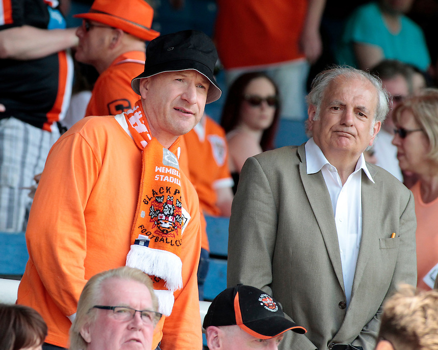 Blackpool fans before kick off<br /> <br /> Photographer David Shipman/CameraSport<br /> <br /> Football - The Football League Sky Bet League One - Peterborough United v Blackpool  - Sunday 8th May 2016 - ABAX Stadium - London Road   <br /> <br /> &copy; CameraSport - 43 Linden Ave. Countesthorpe. Leicester. England. LE8 5PG - Tel: +44 (0) 116 277 4147 - admin@camerasport.com - www.camerasport.com