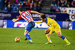 Atletico de Madrid Sime Vrsaljko and UD Las Palmas Roque Mesa during La Liga match between Atletico de Madrid and UD Las Palmas at Vicente Calderon Stadium in Madrid, Spain. December 17, 2016. (ALTERPHOTOS/BorjaB.Hojas)