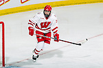 Wisconsin Badgers Kelly Jaminski (7) during an NCAA women's hockey game against the Minnesota Golden Gophers on October 14, 2011 in Madison, Wisconsin. The Badgers won 3-2. (Photo by David Stluka)
