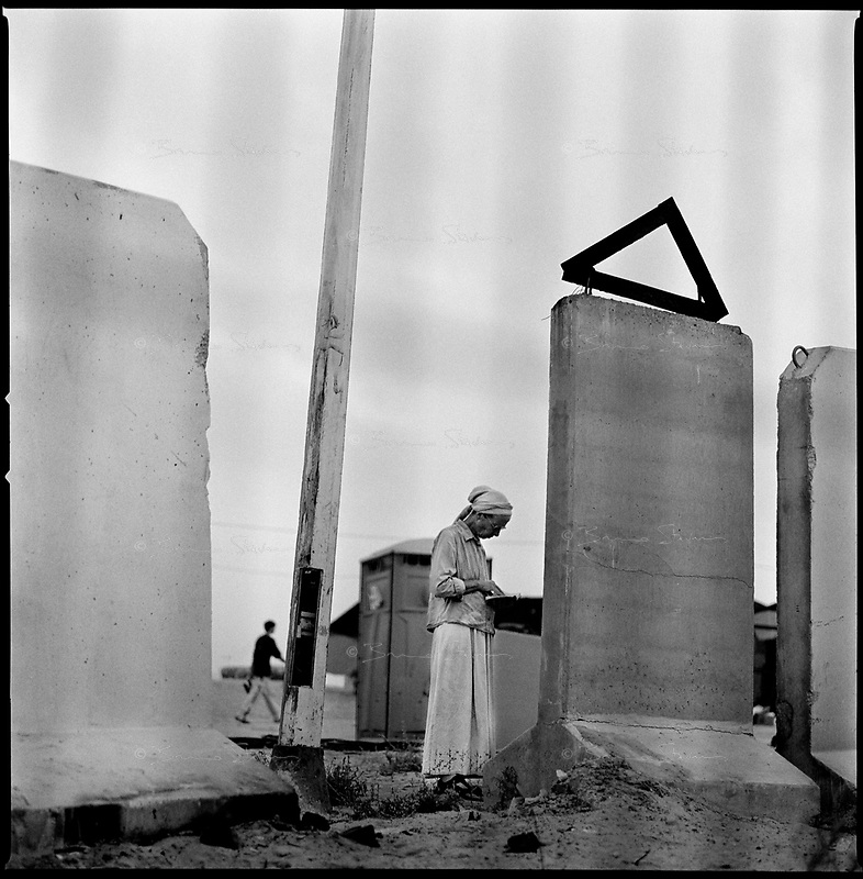 Shirat Ayam Settlement, Gaza strip Israel, Aug. 2005 .Morning prayer.