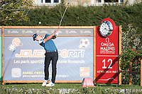 Guido Migliozzi (ITA) in action on the 12th hole during second round at the Omega European Masters, Golf Club Crans-sur-Sierre, Crans-Montana, Valais, Switzerland. 30/08/19.<br /> Picture Stefano DiMaria / Golffile.ie<br /> <br /> All photo usage must carry mandatory copyright credit (© Golffile | Stefano DiMaria)