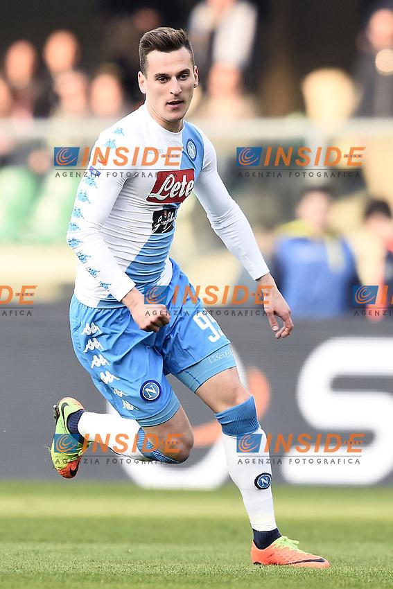 Arkadiusz Milik <br /> Verona 19-02-2017 Stadio Marcantonio Bentegodi.  Chievo Verona - Napoli Foto Image Sport / Insidefoto