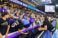 Orlando, FL - Saturday July 20, 2019:   Fans, Alex Morgan #13 during a regular season National Women's Soccer League (NWSL) match between the Orlando Pride and the Sky Blue FC at Exploria Stadium.