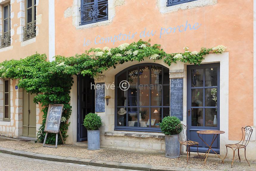 France, Orne (61), le Perche, Bellême, salon de thé, Le Comptoir du Porche // France, Orne, le Perche, Belleme, tea loundge Le Comptoir du Porche